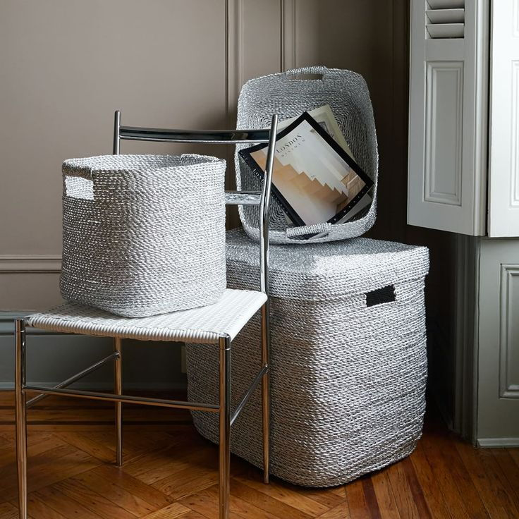 silver basket home