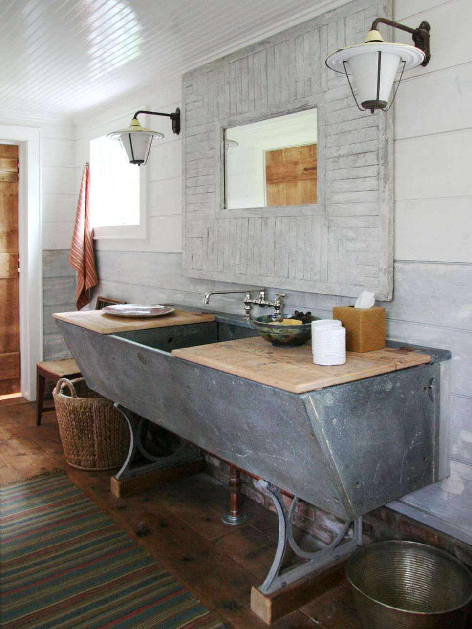 industrial bathroom countertop
