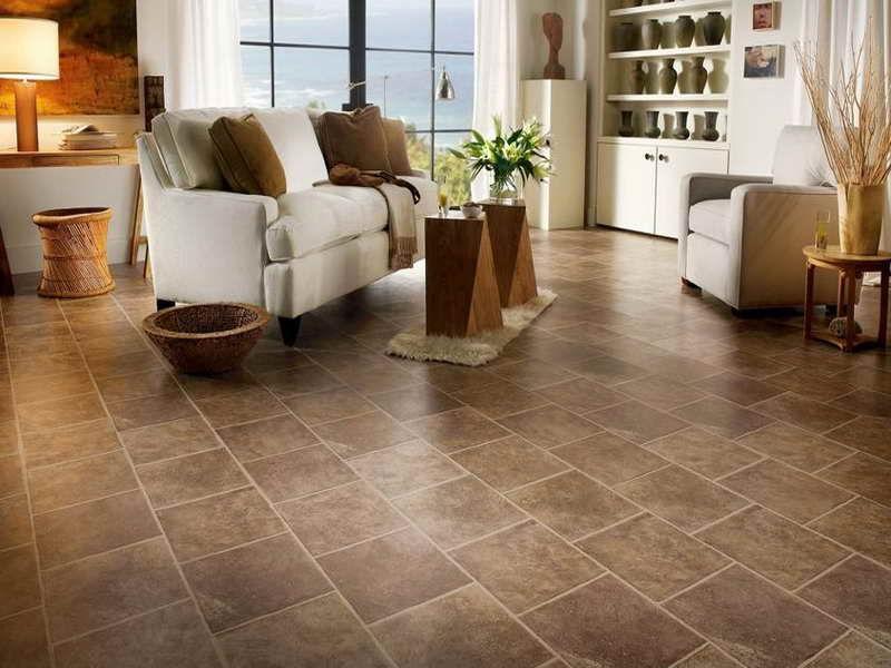 Ceramic tiles floor