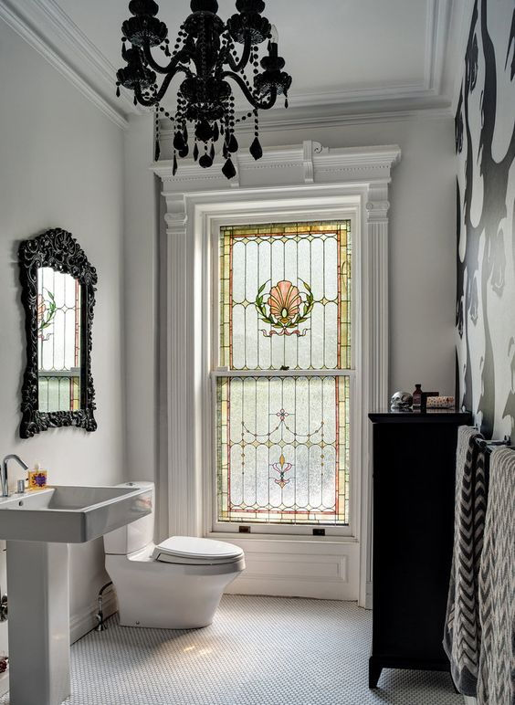 Stained glass washroom