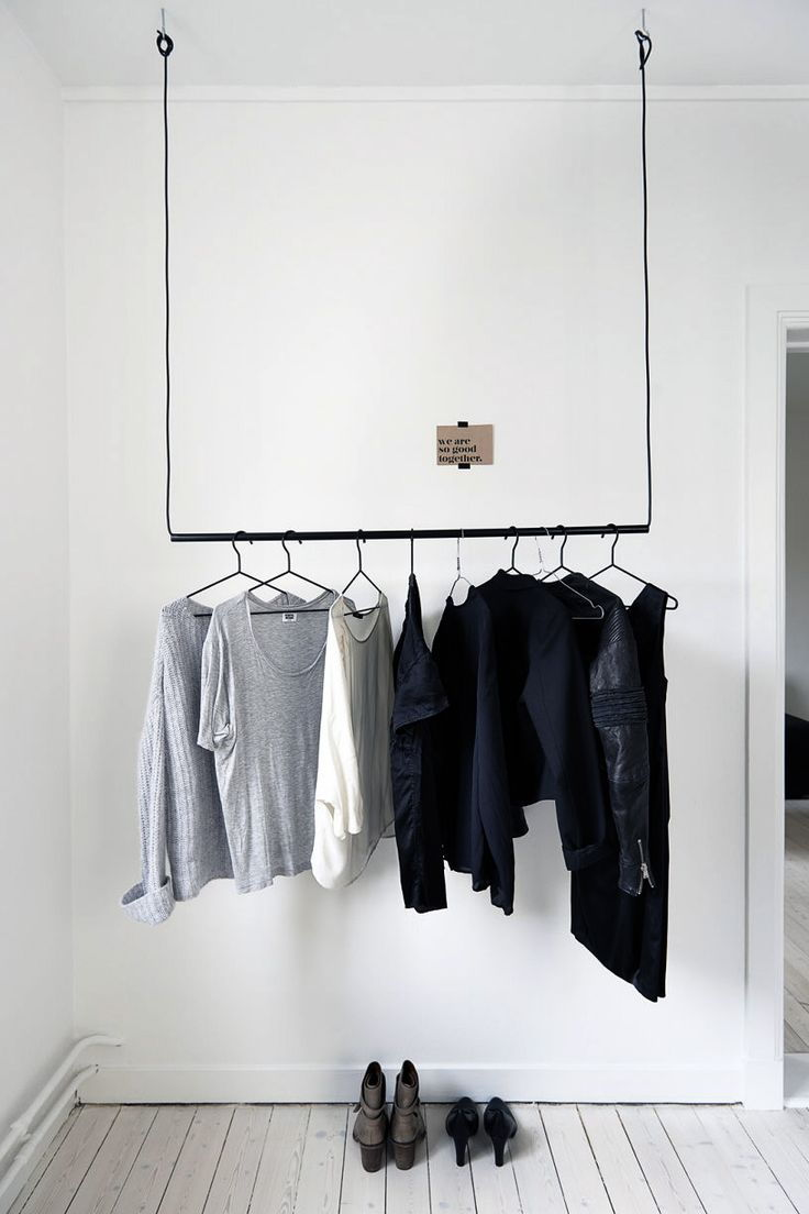 Clothes ceiling rod