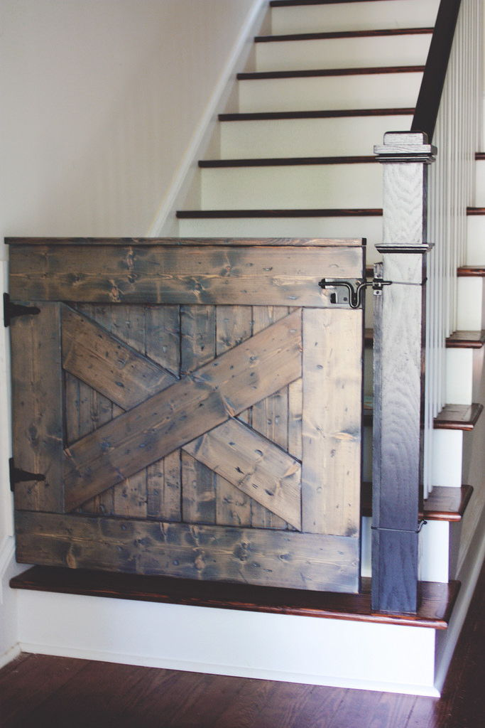 Barn door stairs gate