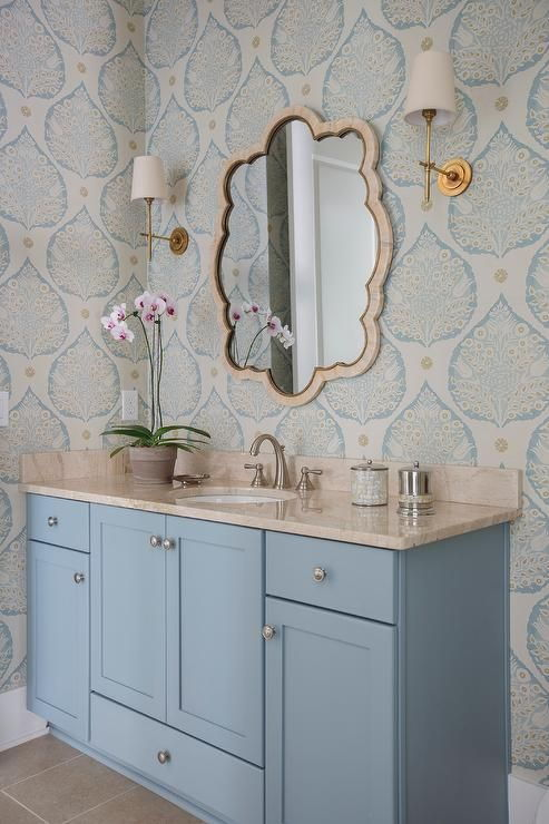 Wallpaper washroom