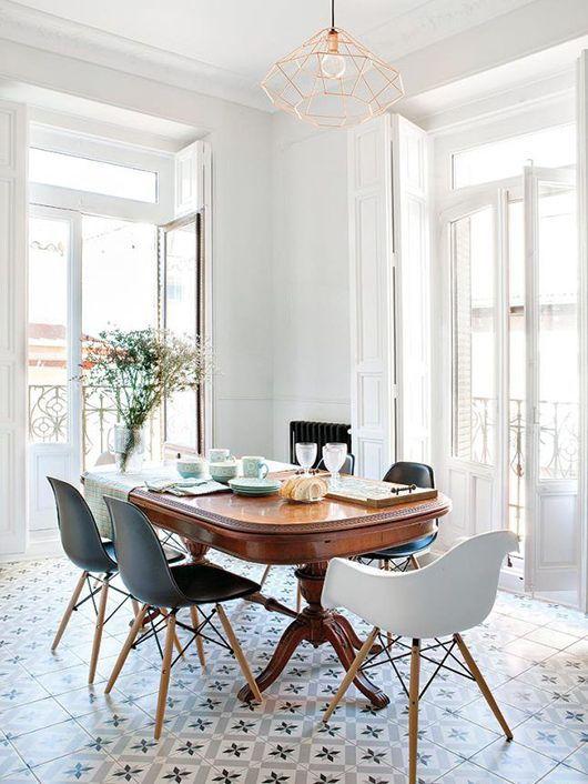 Modern vintage dining