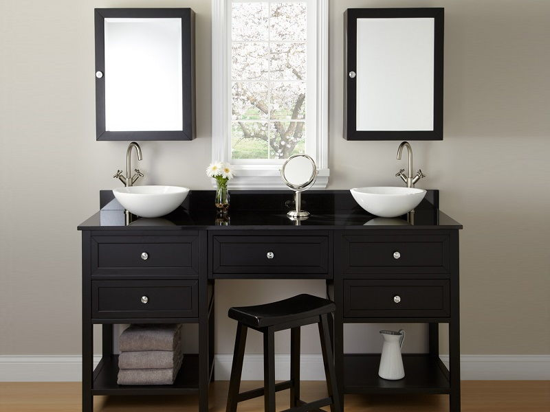double sink mirrors