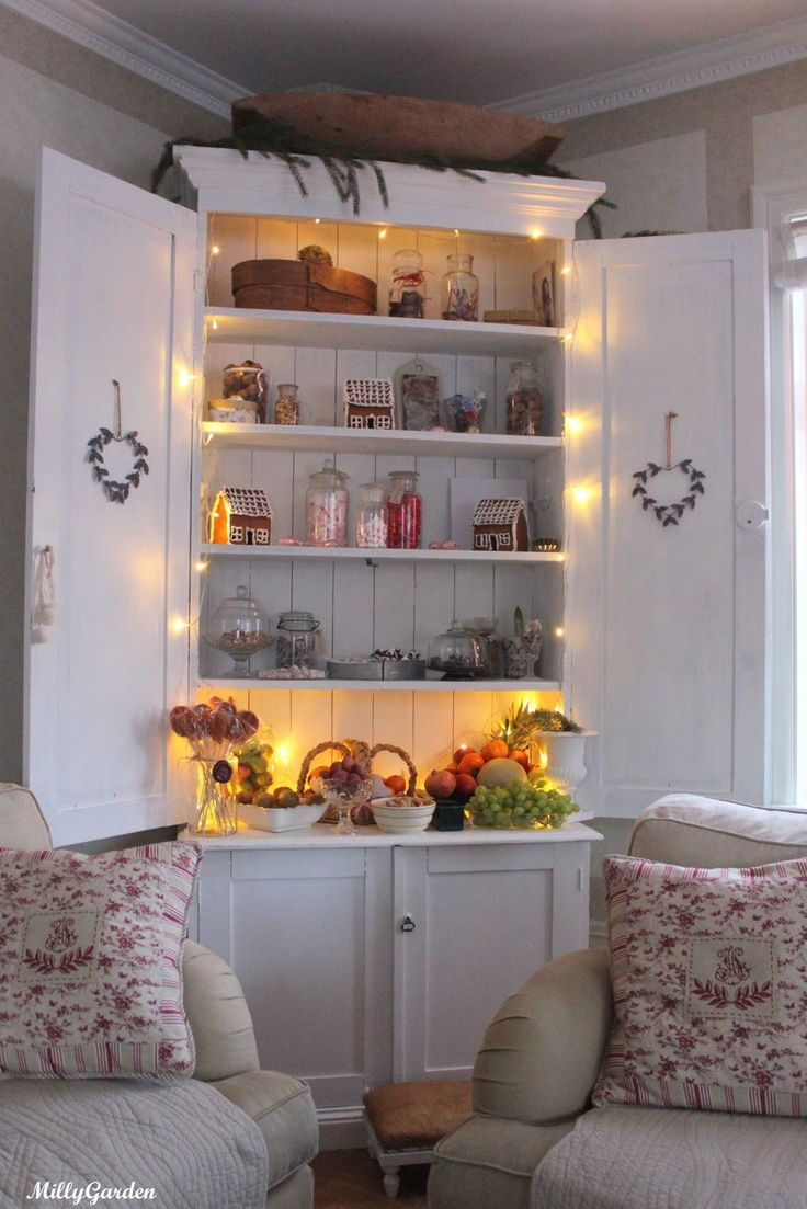 cabinet fairy lights