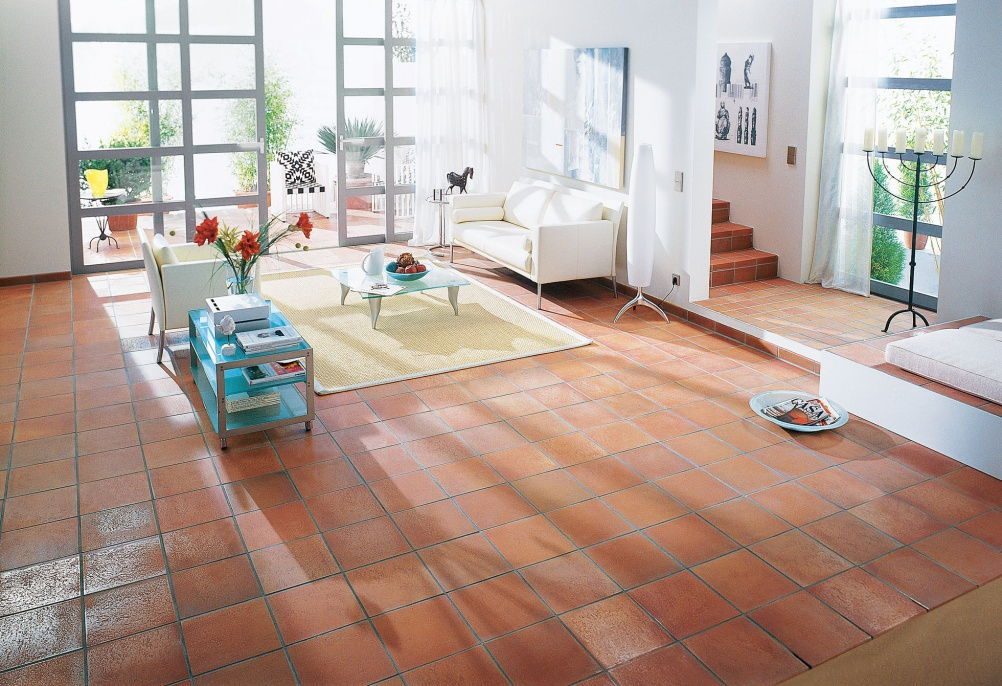 Terra cotta flooring