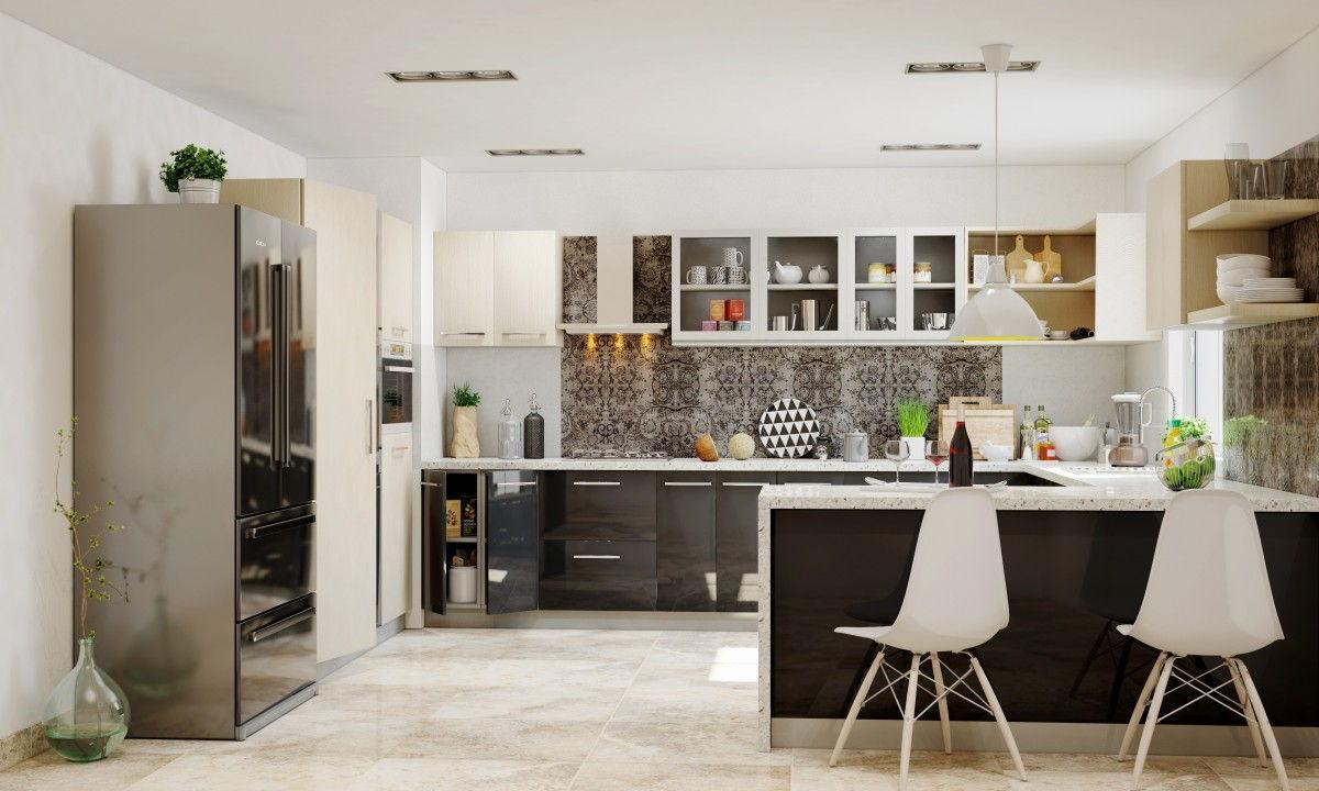 U shaped kitchen peninsula