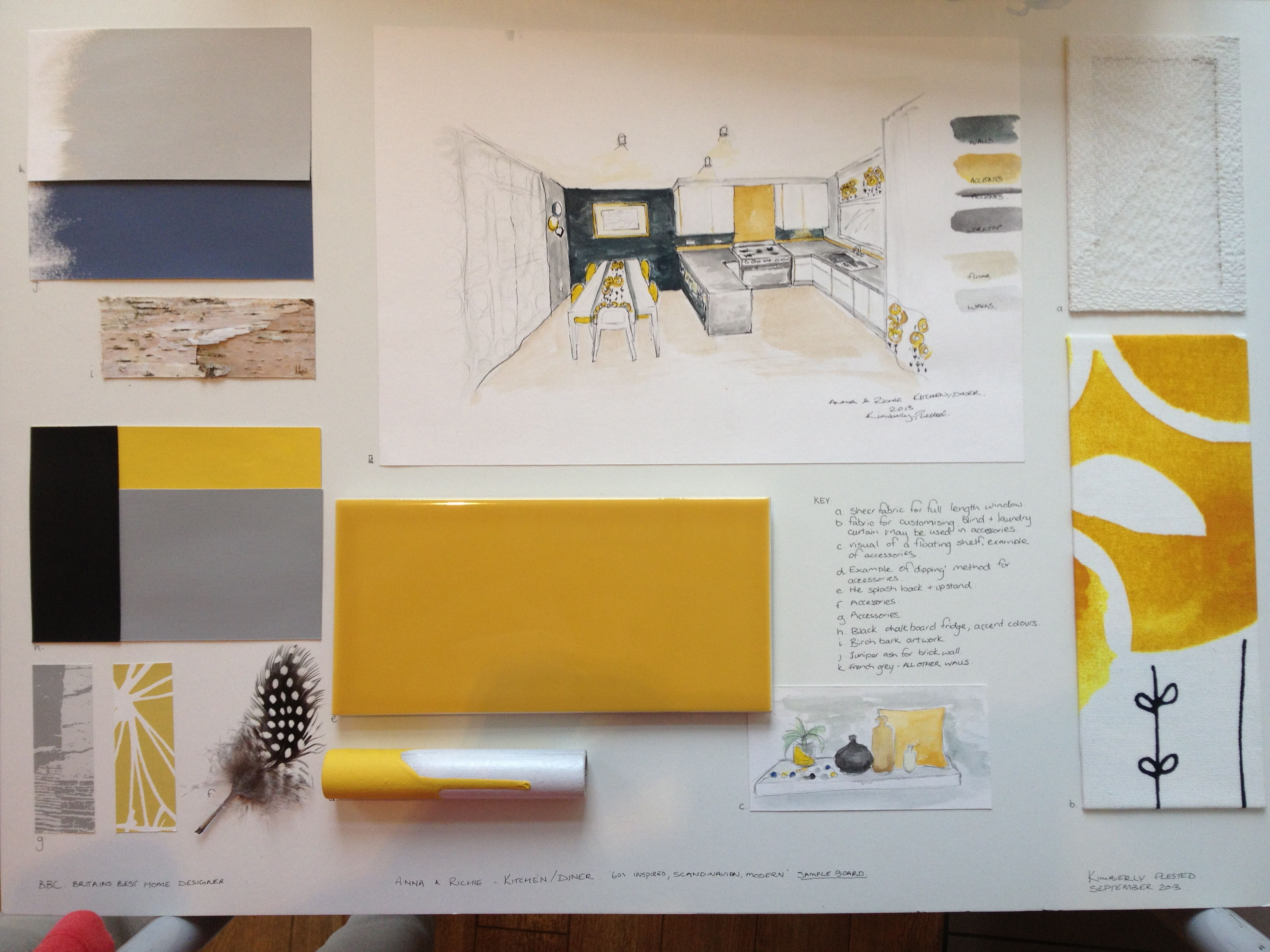 yellow concept board