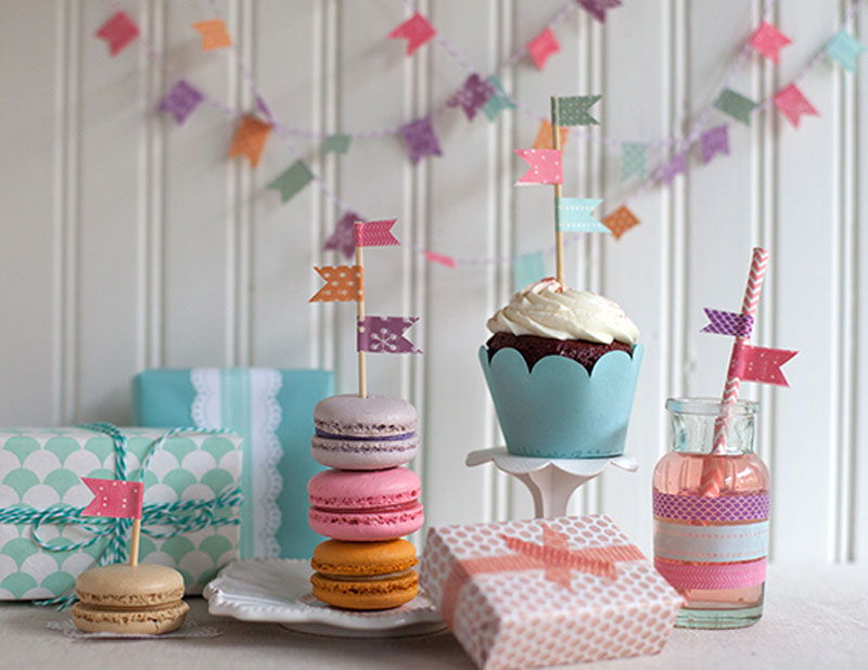 Washi tape party decoration