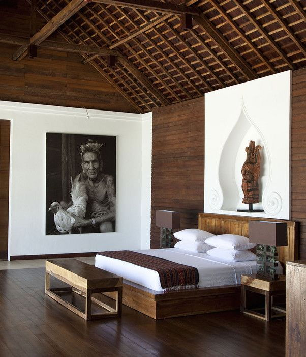 balinese inspired bedroom