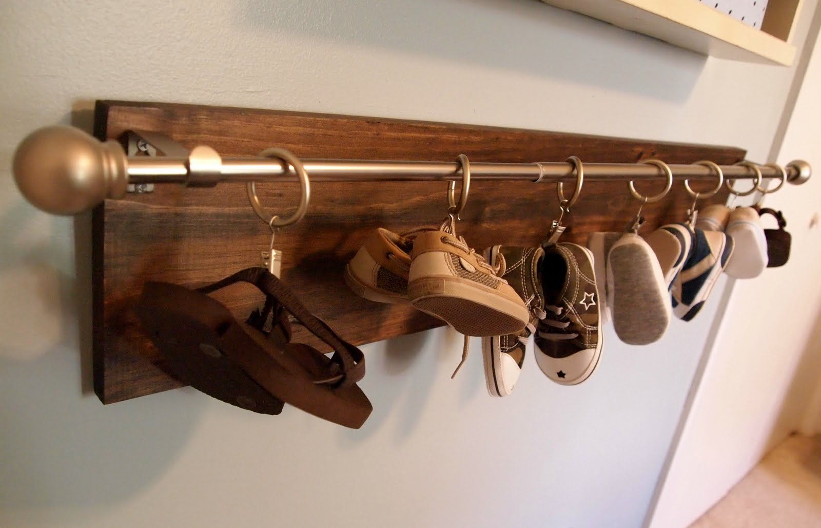 baby shoe hanging