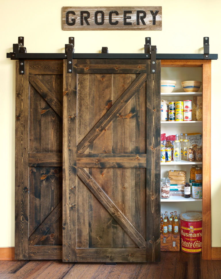 Barn door kitchen