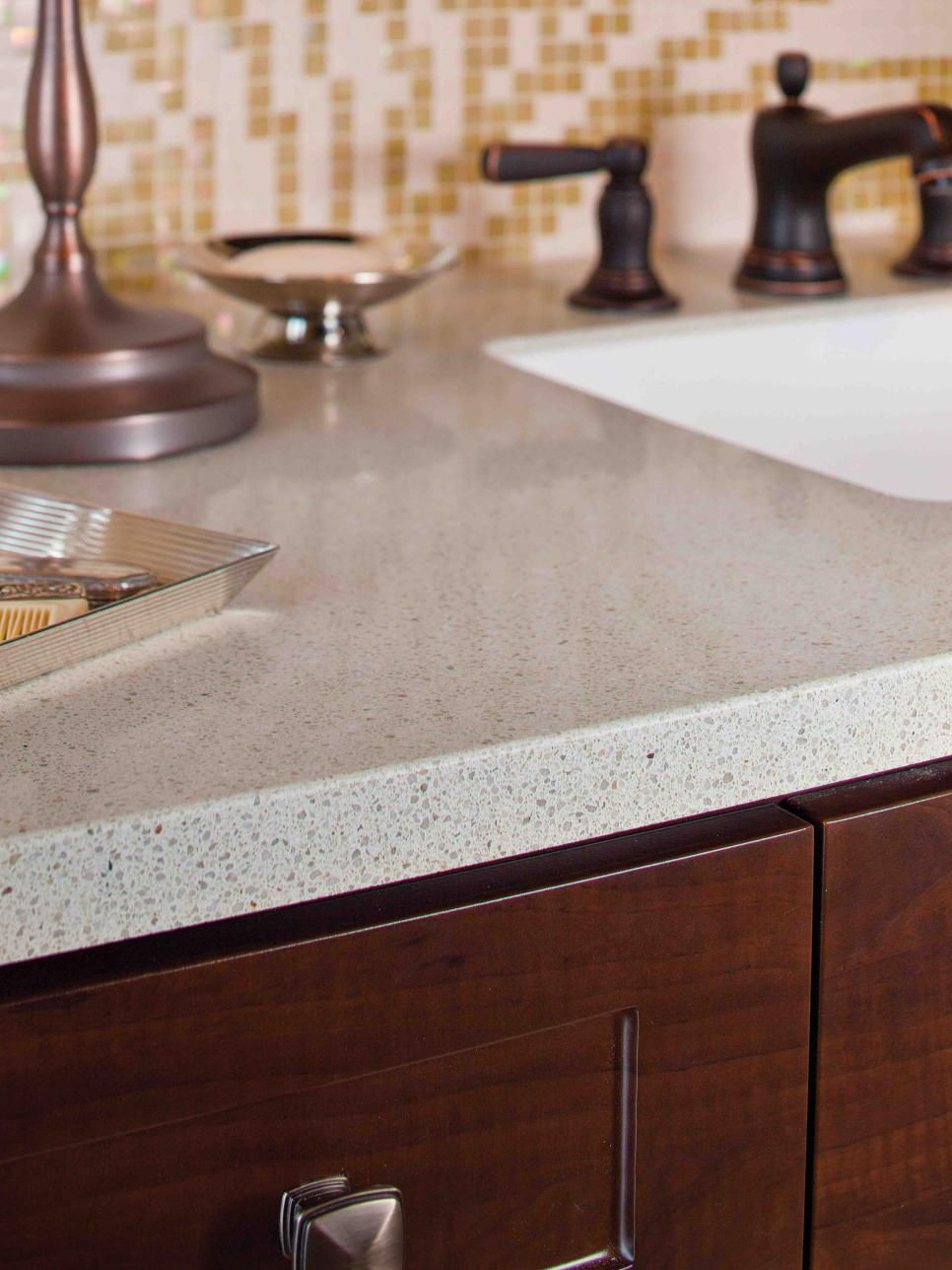 granite bathroom counter
