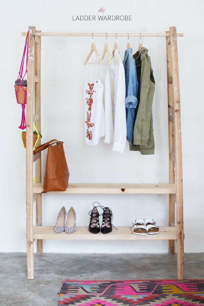 ladder clothing rack