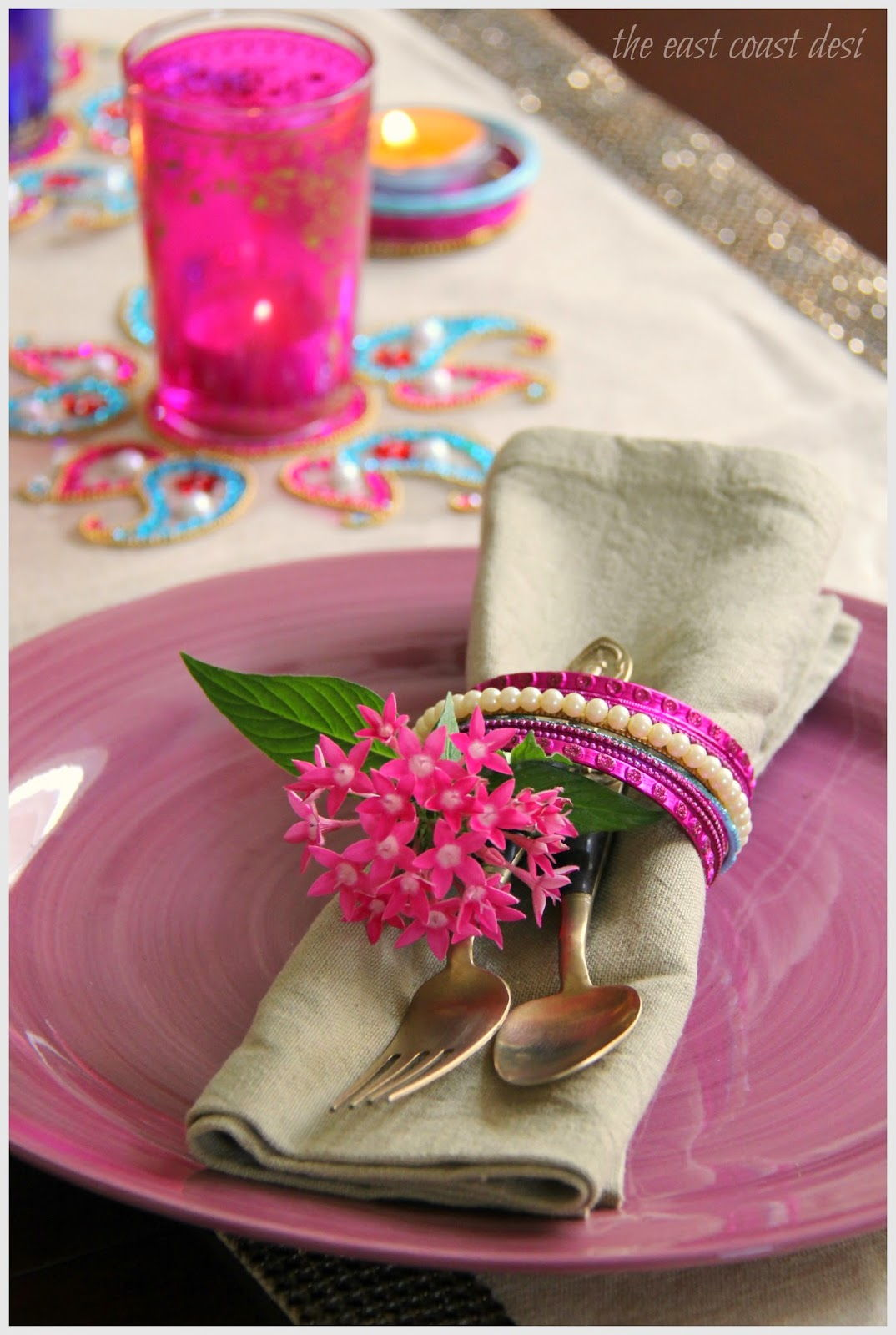 deepavali table setting