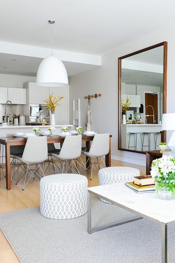 mirror dining area