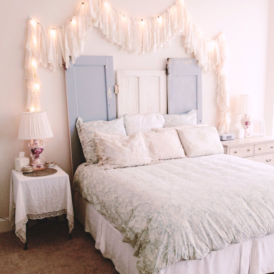 tassel bed fairy lights