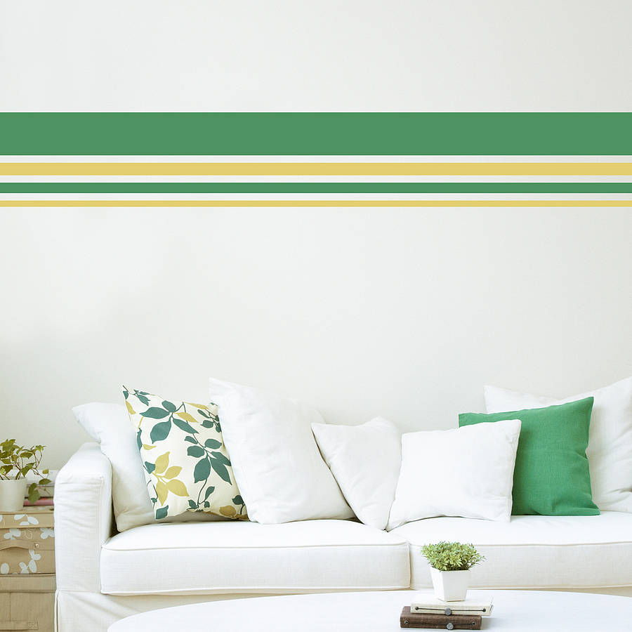 Stripes wall paint