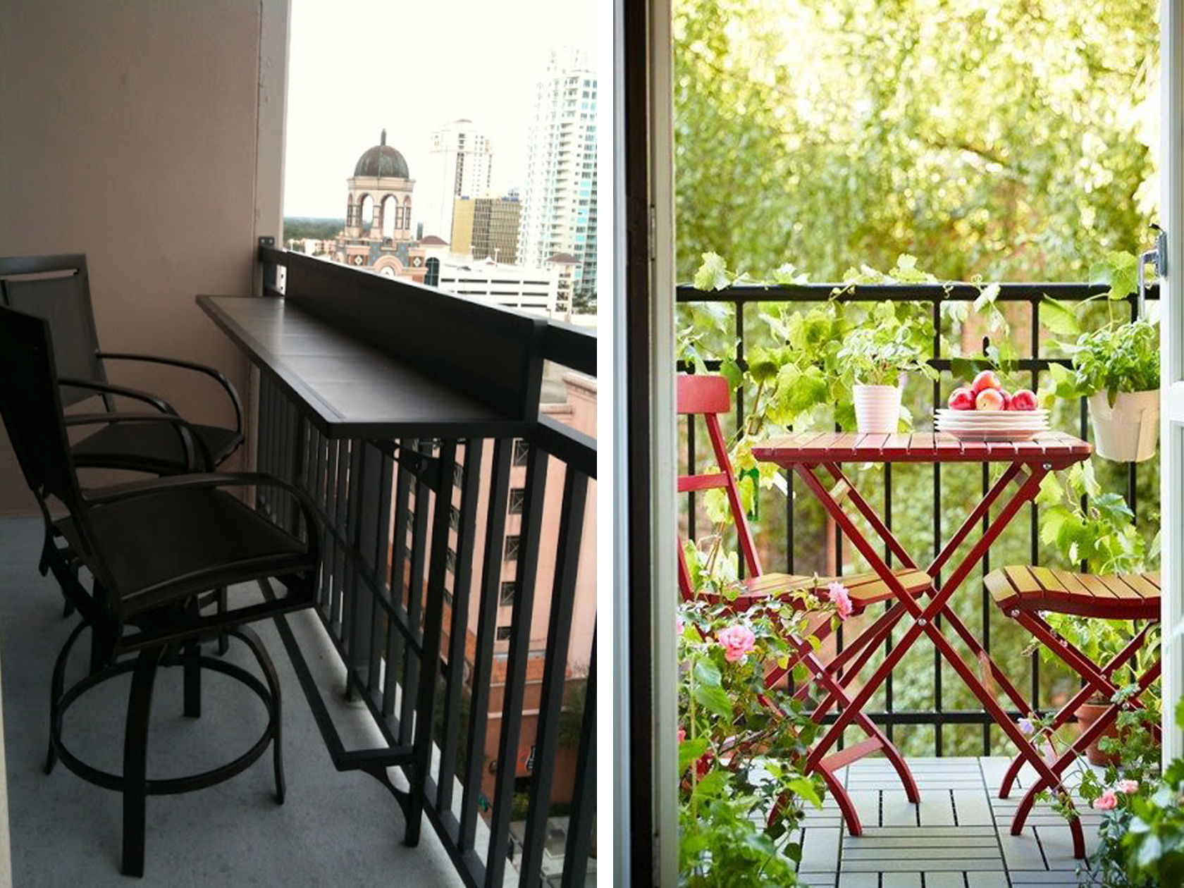 balcony dining area
