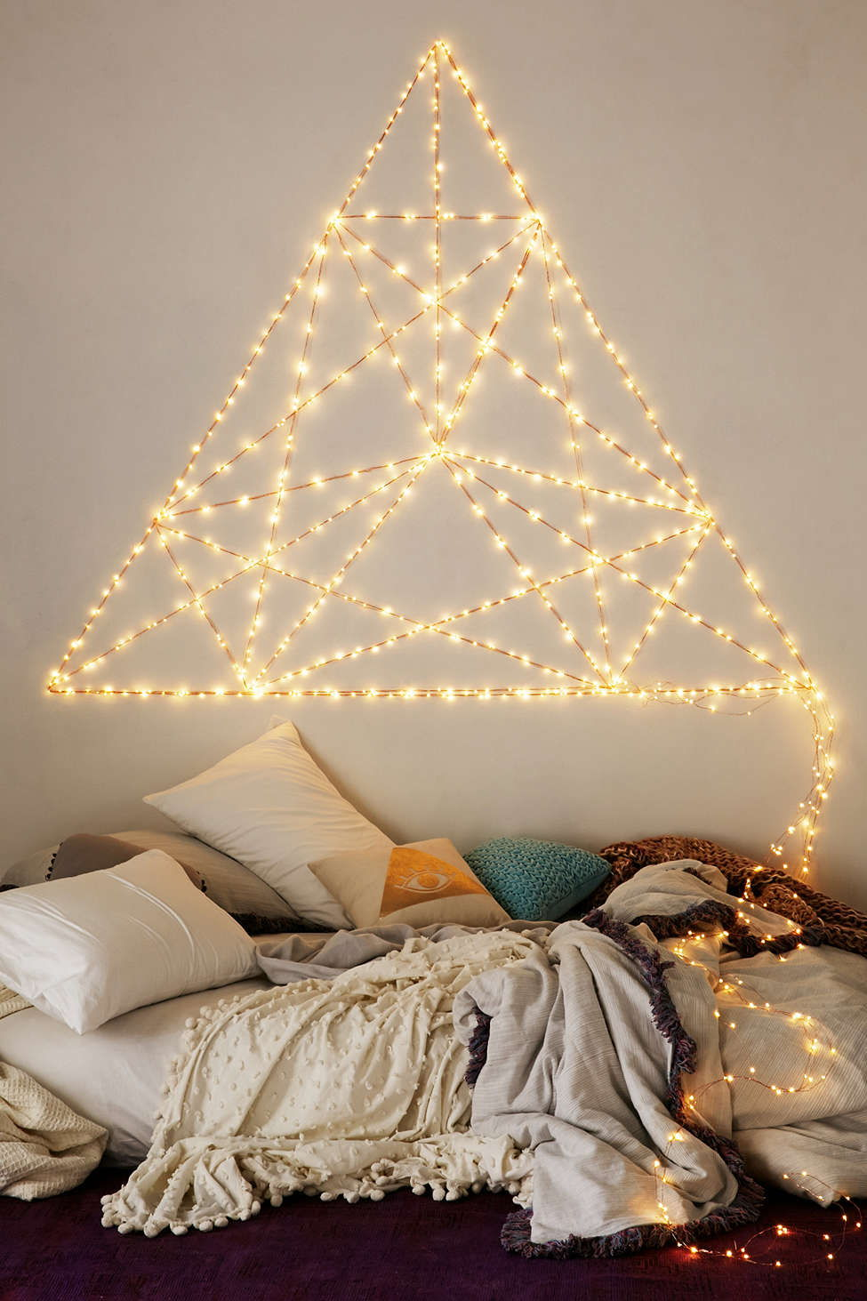 fairy lights wall