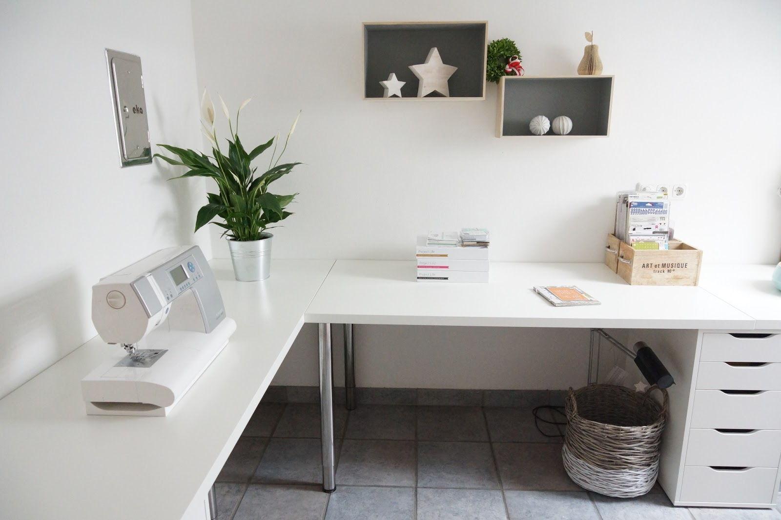 L shape study desk