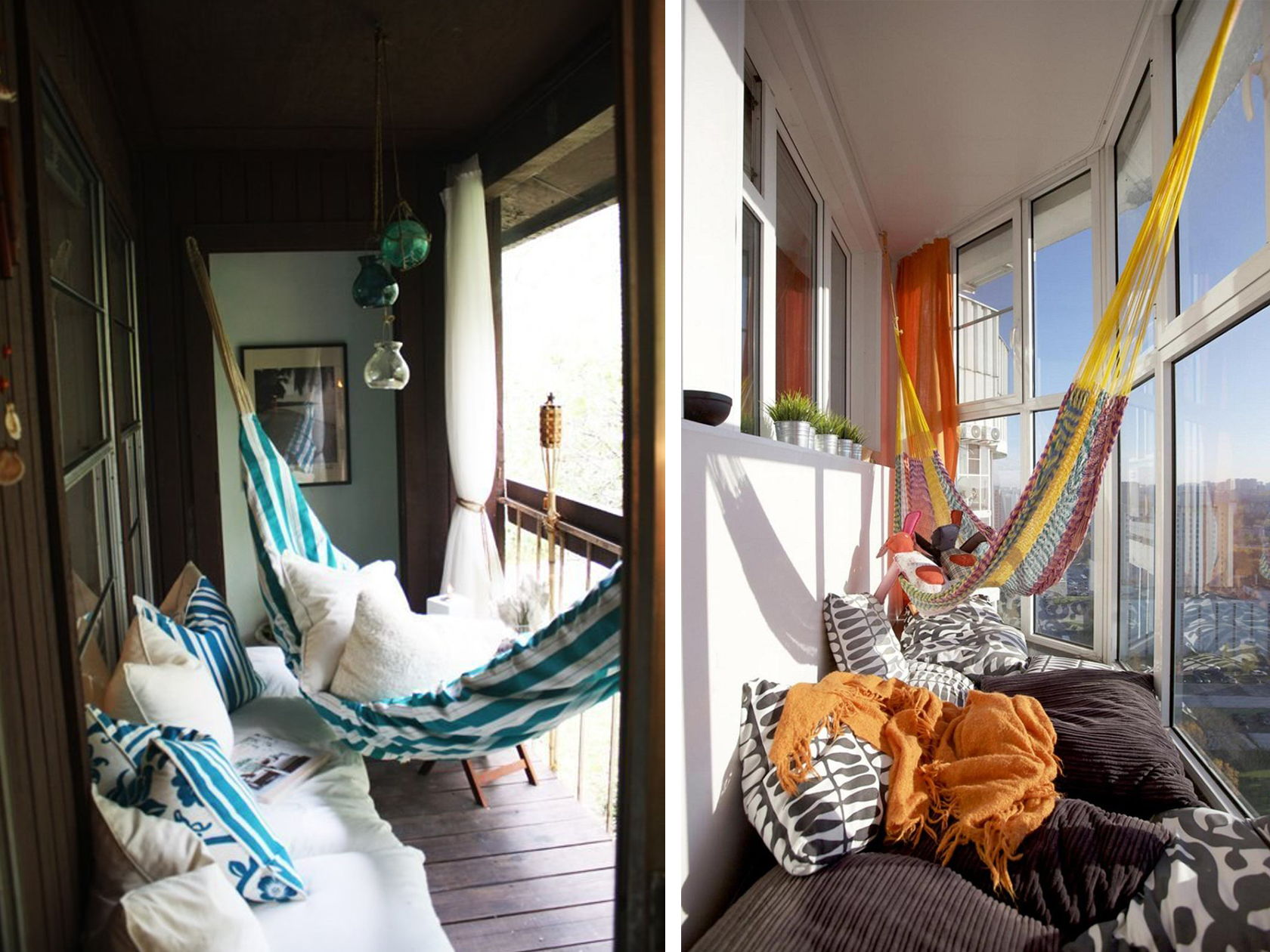 Why size doesn 39 t matter 22 fun ideas for small balconies for Balcony hammock