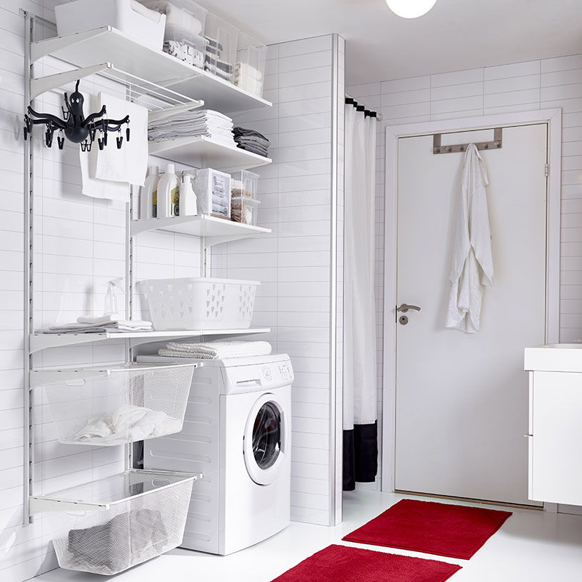 ikea laundry shelves