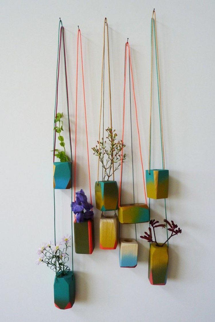 Hanging plants balcony