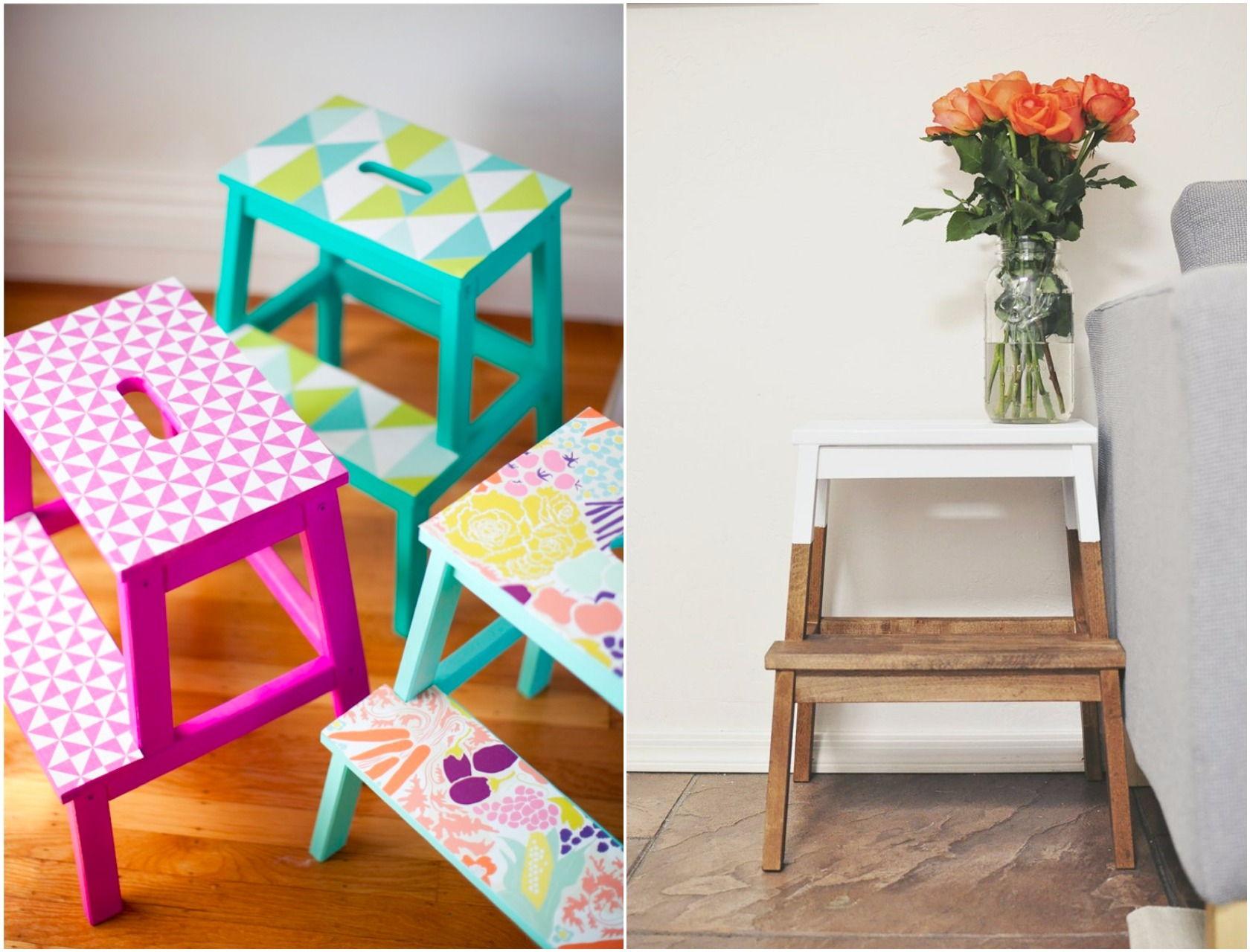 ikea step stool painted