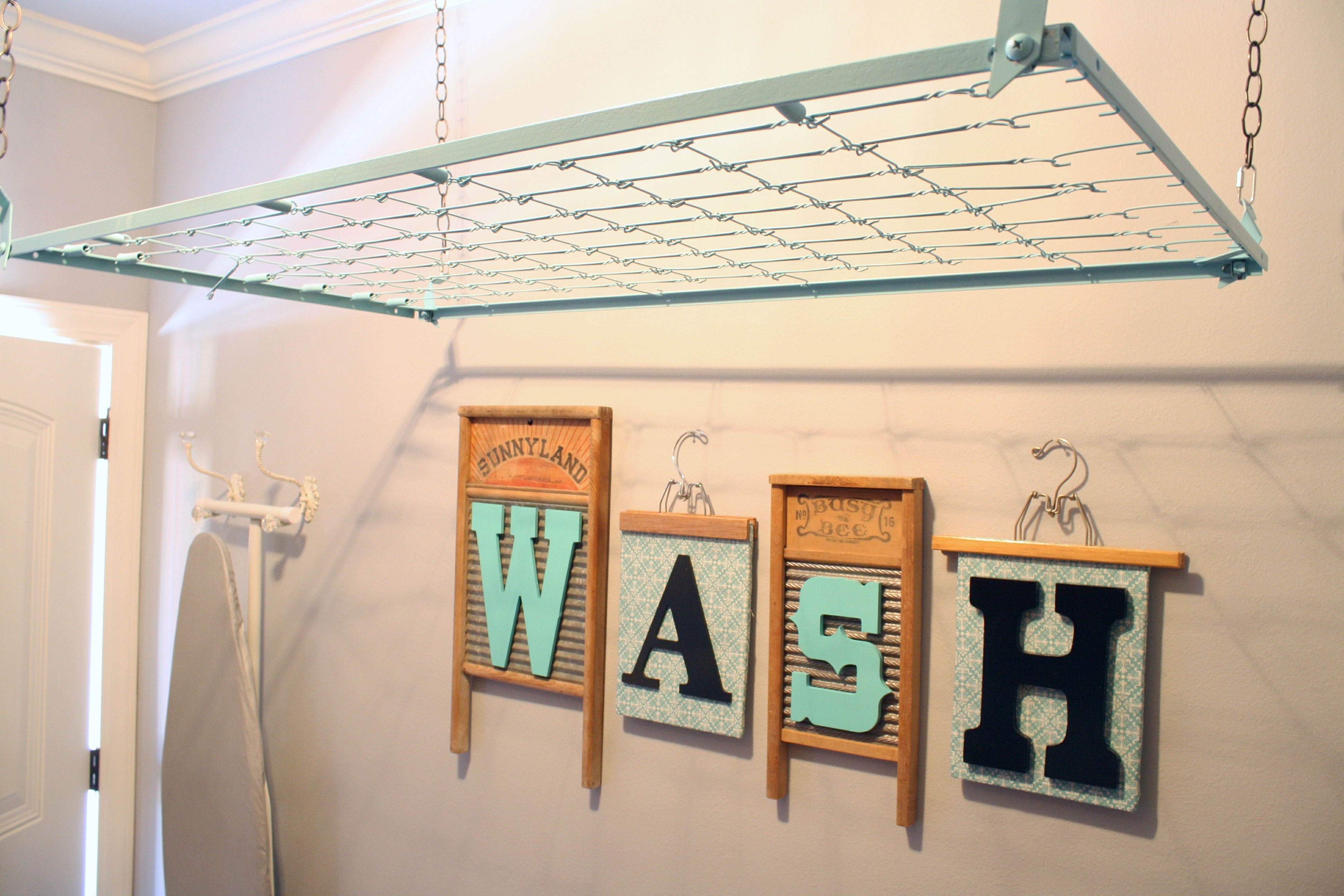creative laundry storage