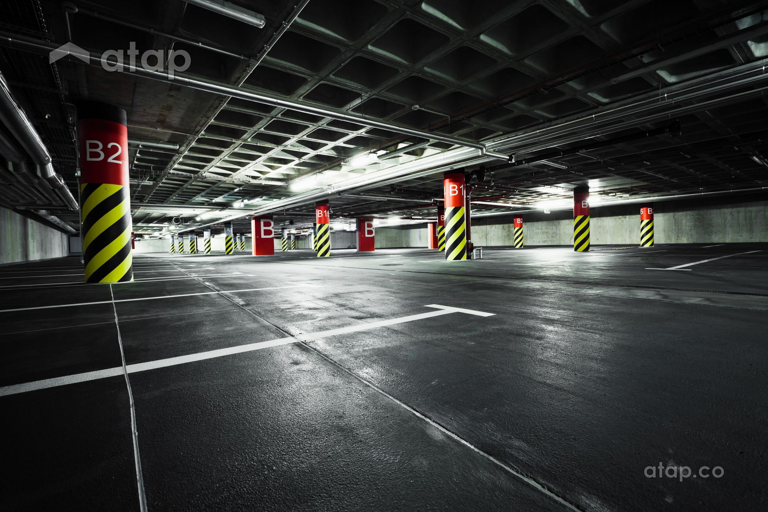 dark carpark