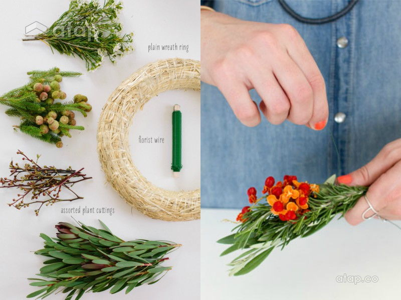 DIY Christmas Wreaths With Plants From Your Very Own Garden | Atap.co