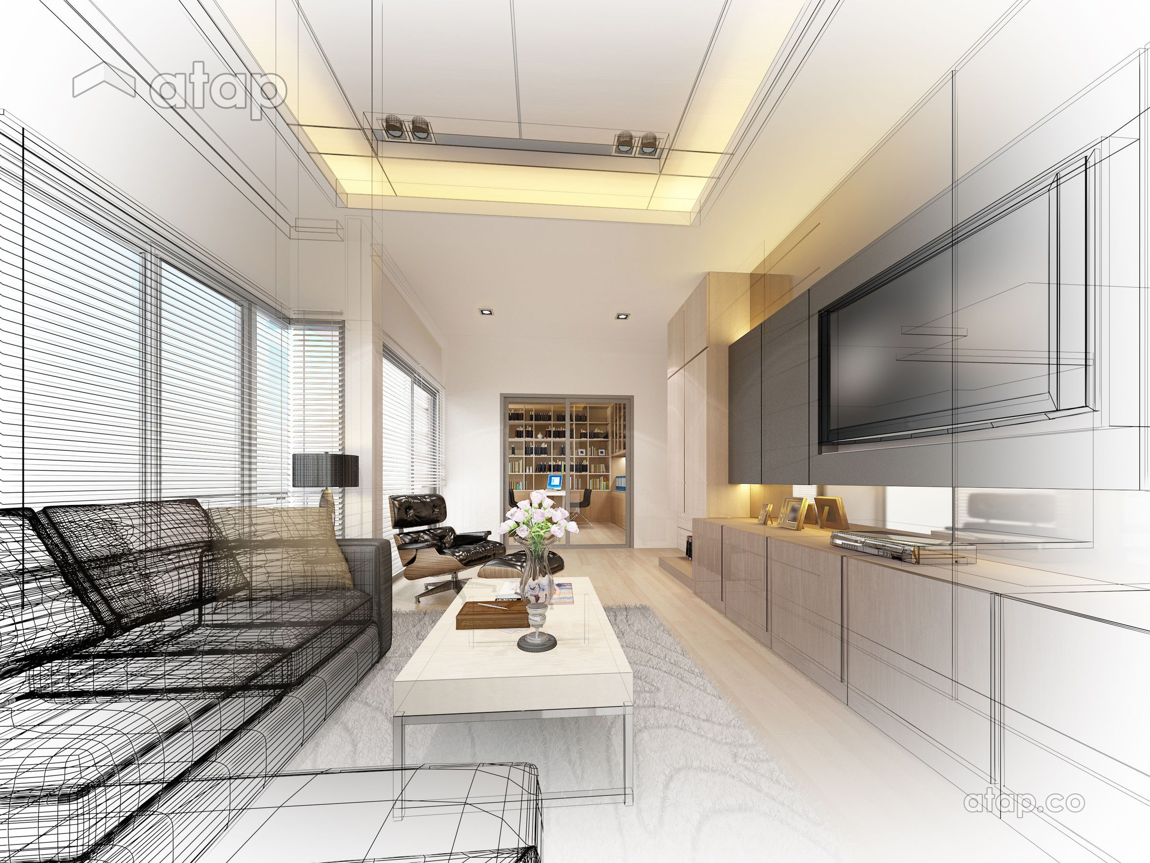 interior design vector sketch