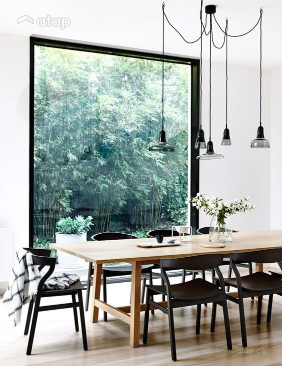 large window dining