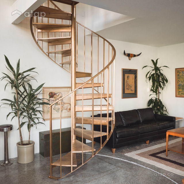 spiral home stairs