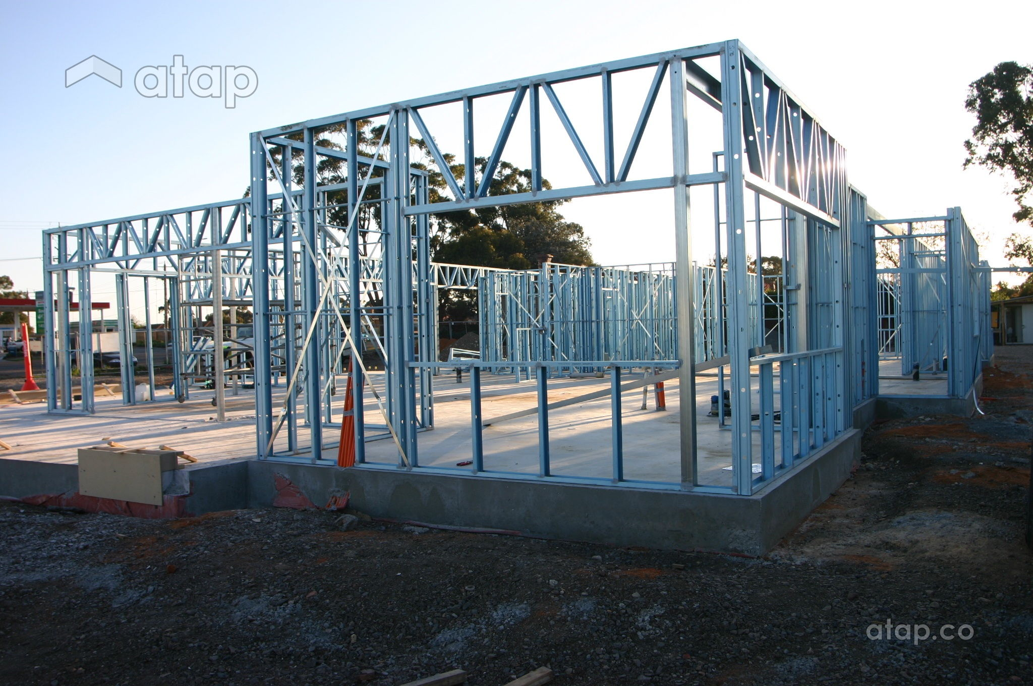 steel home structure