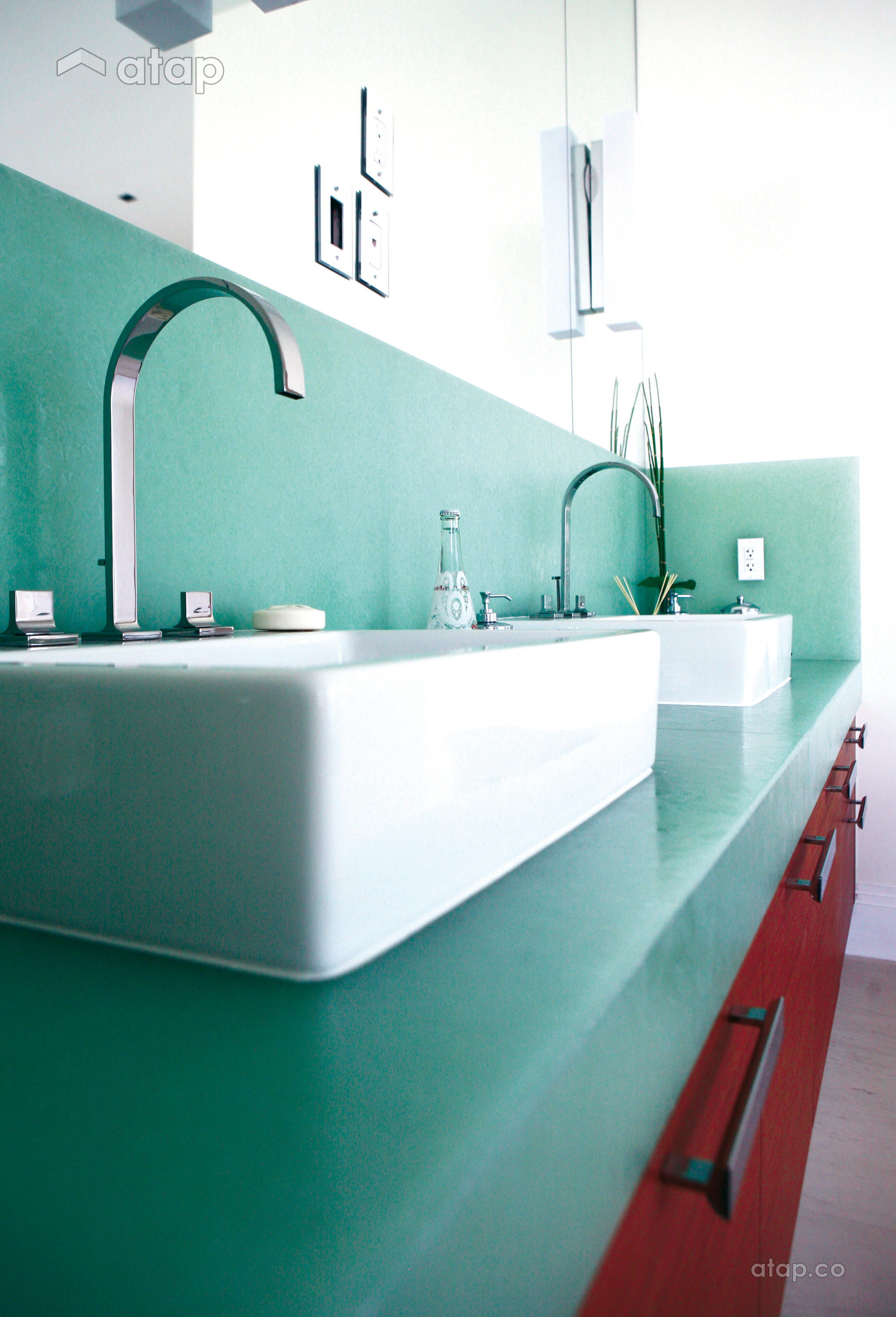 bio glass sink bathroom