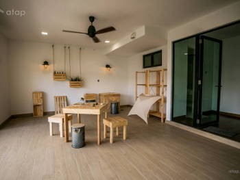 1 room 2 spaces how to separate your open plan living for Balcony design ideas malaysia