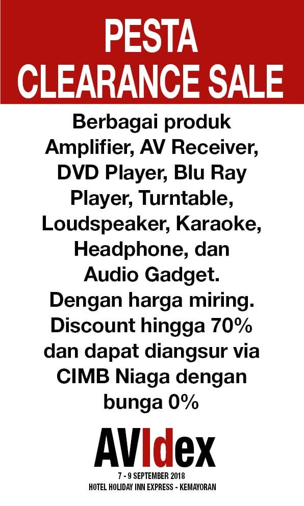 AVIDEX 2018 PESTA CLEARANCE SALE