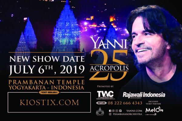 Yanni, Bakal Boyong Live Orchestra ke Prambanan Jazz Festival 2019