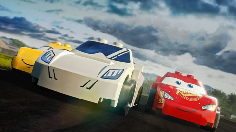 Lego Lightning McQueen vs The Stig
