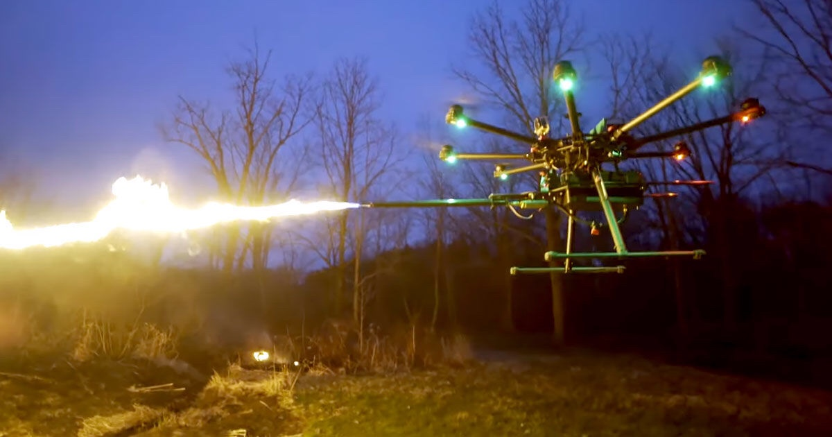 Flame Thrower Drones to Go On Sale. What Could Possibly Go Wrong?