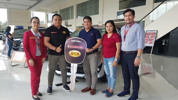 Toyota Cam Sur Customer Wins 2019 X-1R Win-A-Car Raffle
