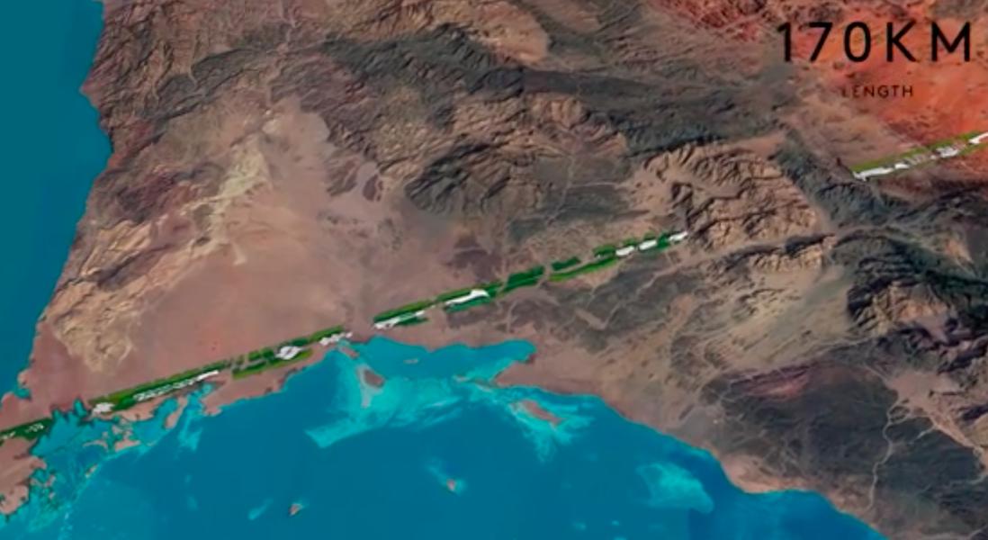 Crown Prince of Saudi Arabia Plans a 170-Kilometre Long Car-Free City
