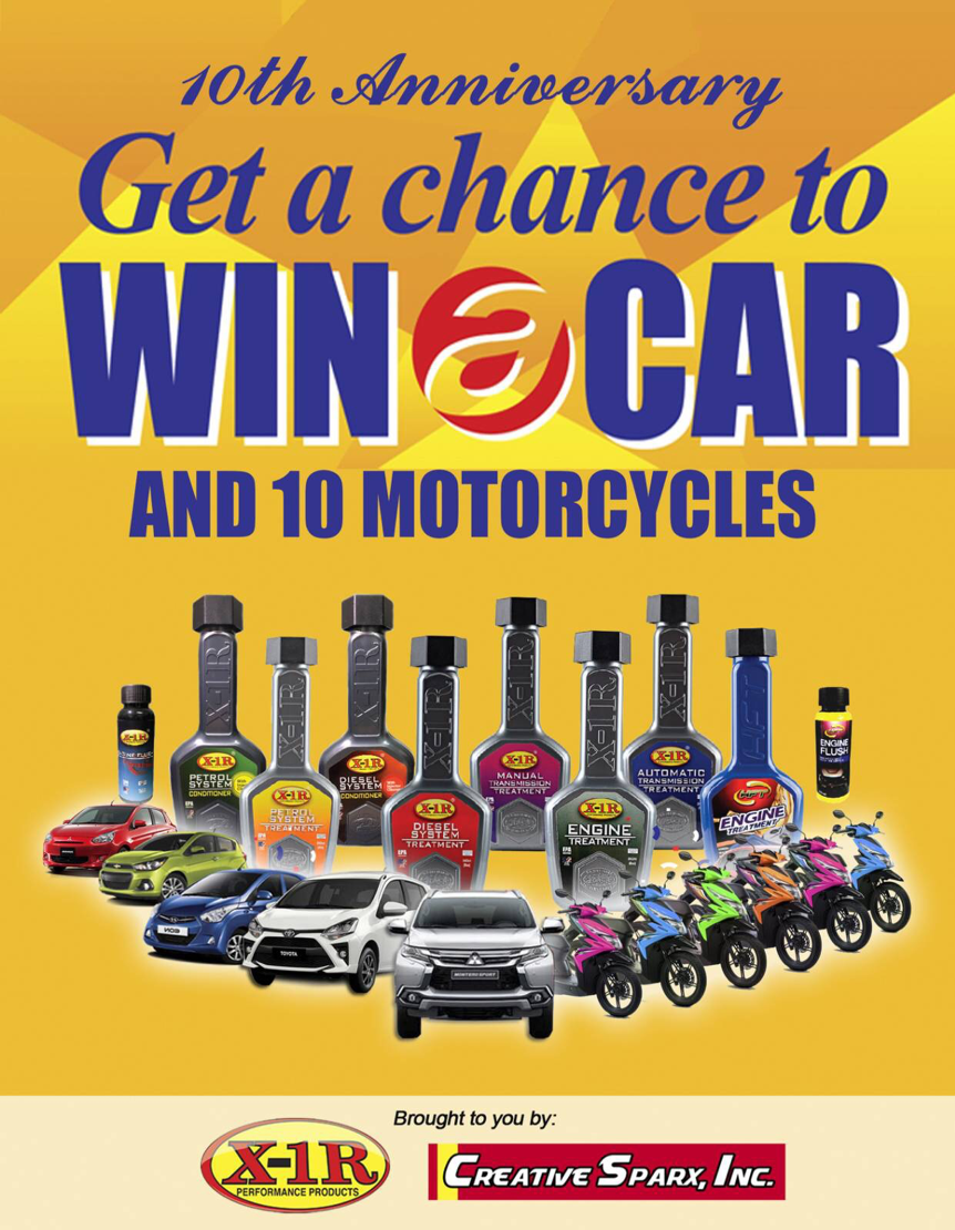 X-1R Philippines Relaunches Its 2021 Win-A-Car Promo