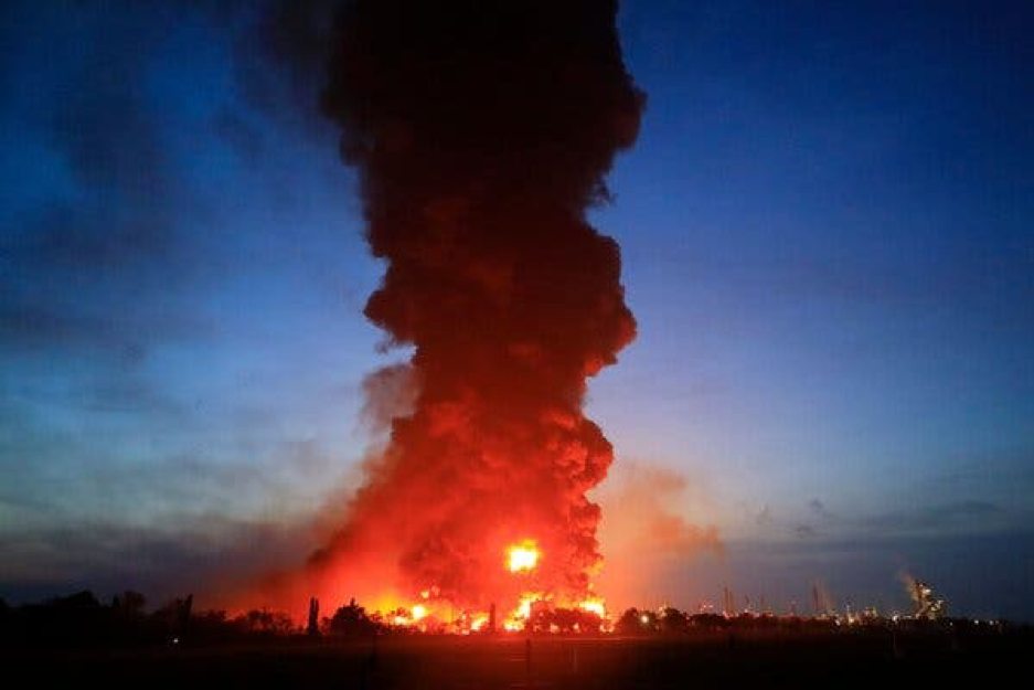 WATCH: Indonesian Oil Refinery Goes Up in Smoke