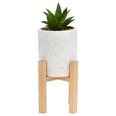 Bouclair Nordic Pot Plant And Stand White 13 x 35 cm