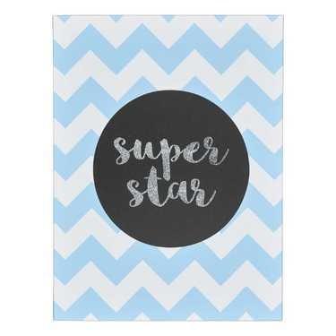 Super Star Blue Wall Canvas