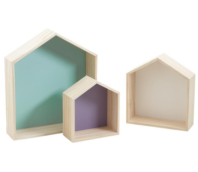 House Wooden Shelf (Set of 2 size)